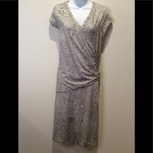 ATHLETA NECTAR FAUX WRAP DRESS. SIZE LARGE/TALL